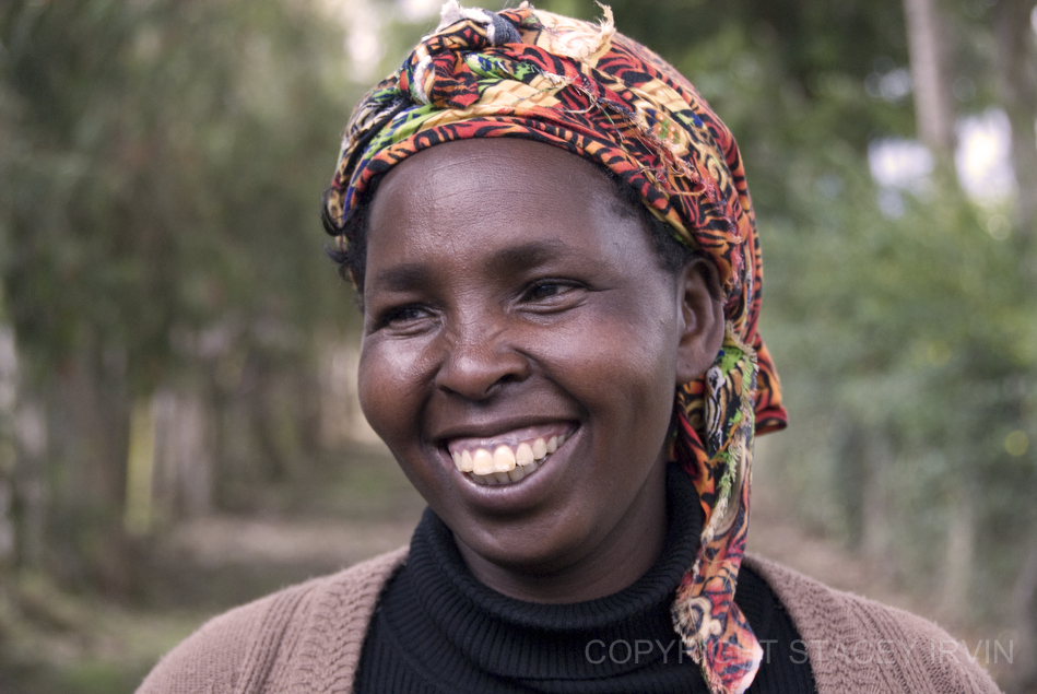Esther is a wife, mother, farmer, weaver, entrepreneur, and administrator of collective farming and knitting groups in Ndathi.