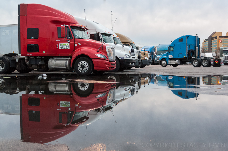 Truck Stop Reflection
